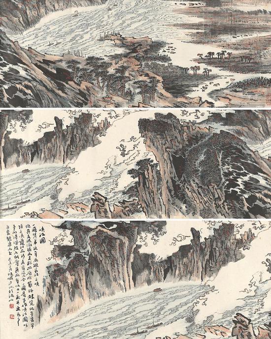 ▲2019西泠春拍 陆俨少 峡江图卷
