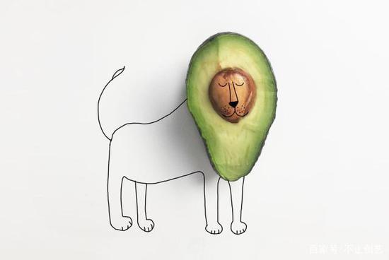 切开这个牛油果时,它看起来有点困了,然后,它变成了一只打盹的狮子。