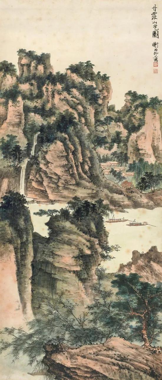 Lot571 谢稚柳(1910-1997) 丹霞山色