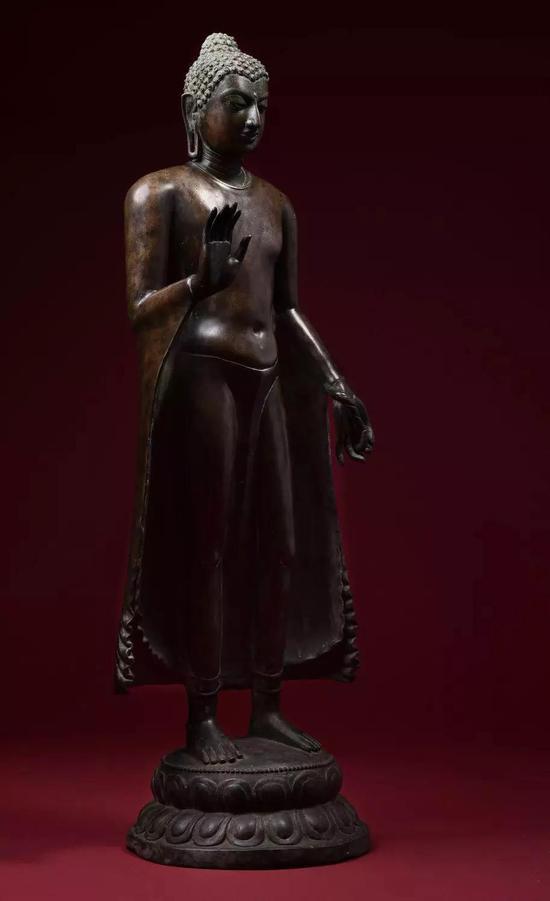 9世纪 合金铜释迦牟尼佛陀立像