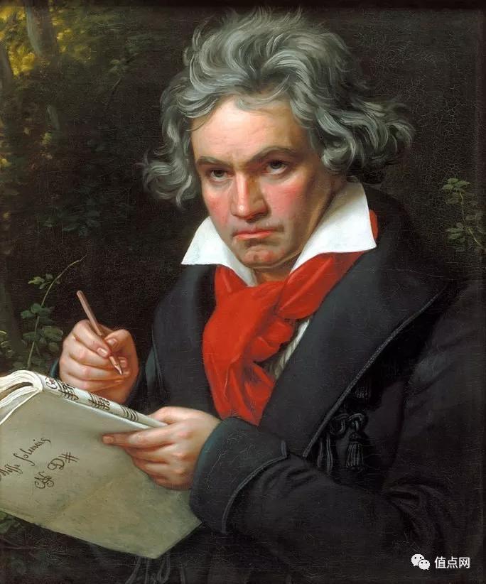 ▲ 贝多芬一头银色长发的形象,令人留下深刻印象