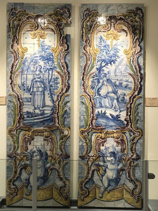 """▲""""牧羊人""""图案瓷板画(1750-1780)"""