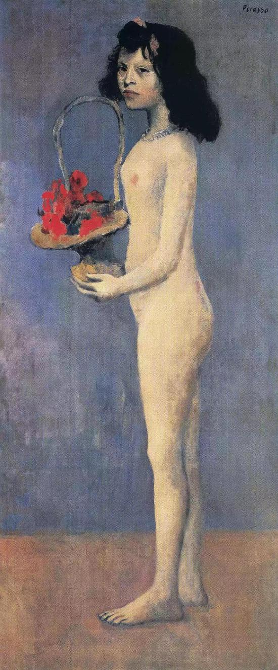 No.2毕加索《拿着花篮的女孩》1905年作