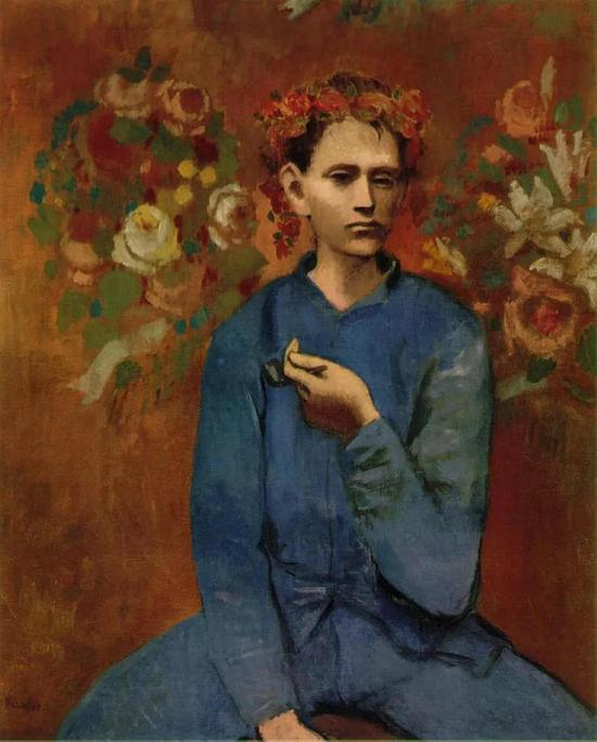No.4毕加索《拿烟斗的男孩》1905年 100×81cm