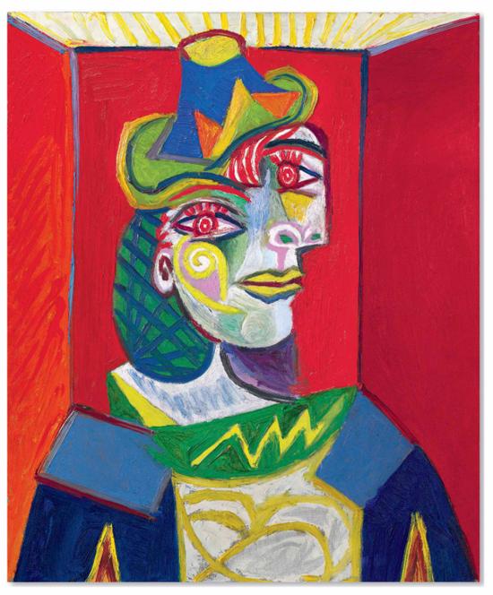 No.8毕加索《女人半身像 (朵拉·玛尔)》65.1 x 54cm 1938年1月12日作于巴黎