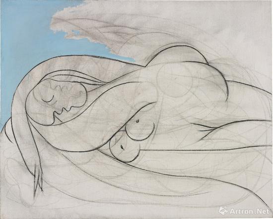 No.10毕加索《沉睡的女人》布面油画、木炭 130.2 x 161.9 cm 1932年作