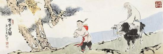 11 范曾 2010年作 老子出关 镜心 RMB 1,200,000-1,500,000