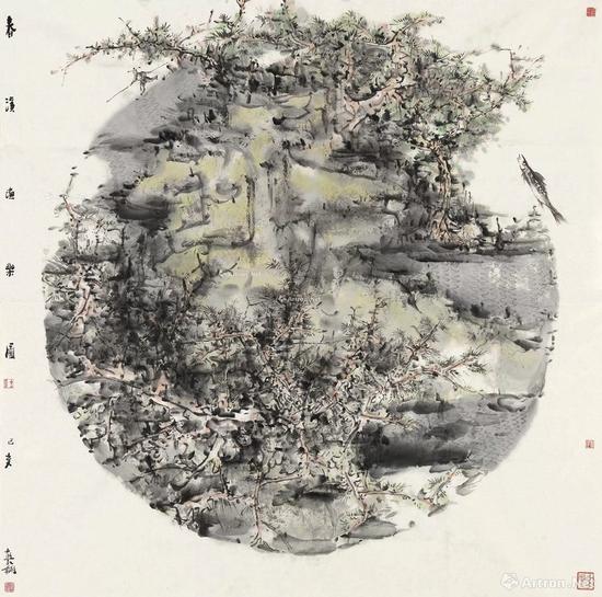 16 熊红钢 2019年作 春溪渔乐图 镜心 RMB 1,400,000-1,800,000