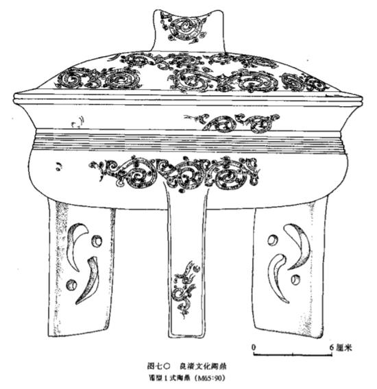 上海福泉山良渚文化陶鼎龙纹