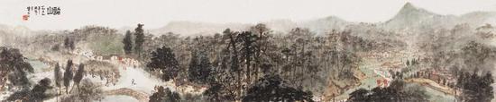 《韶山图卷》 纸本设色 27.7×136.2cm 1959年6月