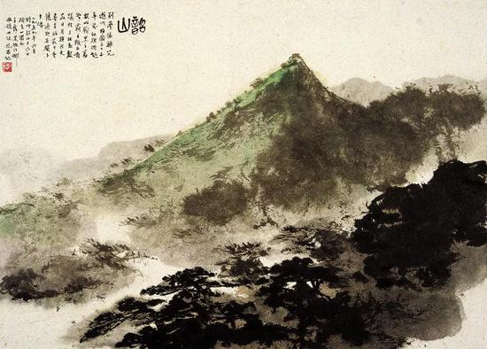 《韶山》 页 纸本设色 28.5x39.5cm 1960年