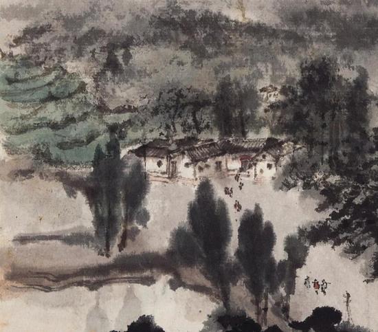 (本幅)《韶山诗意》(局部)毛泽东故居