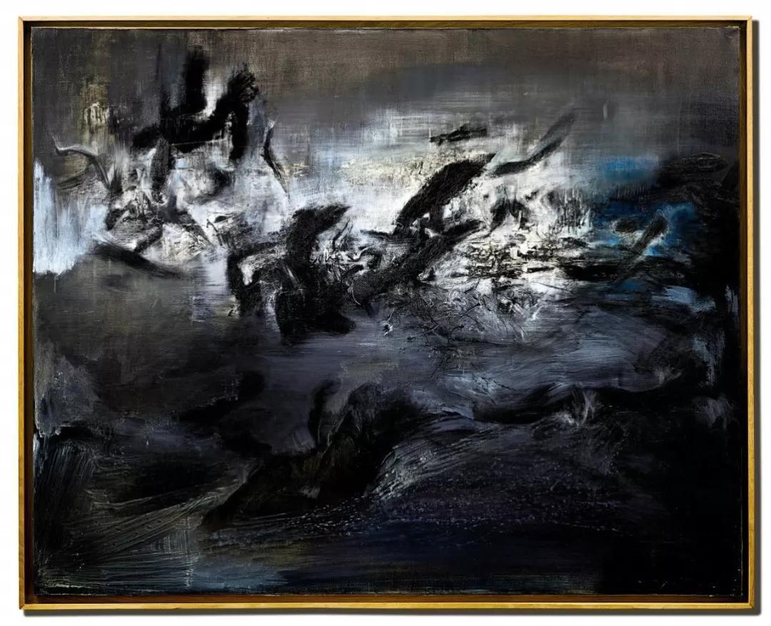 赵无极《21.04.59》  1959年作,油画画布,130 x 162 公分  估价:7,500万至1亿港元