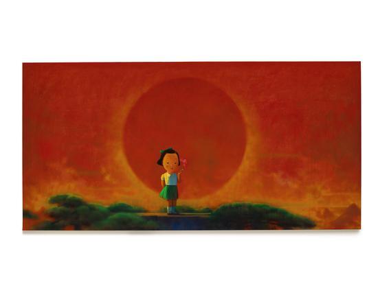 ' 吉利翁。库维珍藏' 刘野《烟》 压克力画布,2001至2002年作 178 x 356.5 公分 估价:2,500万 – 3,500万港元