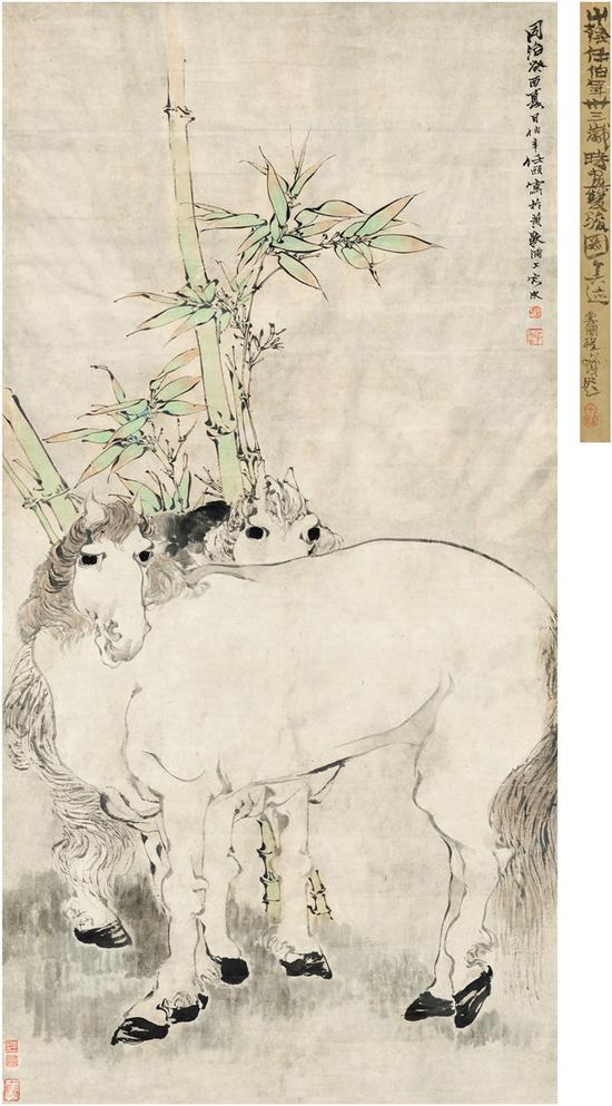 任伯年(1840~1895) 双骏图