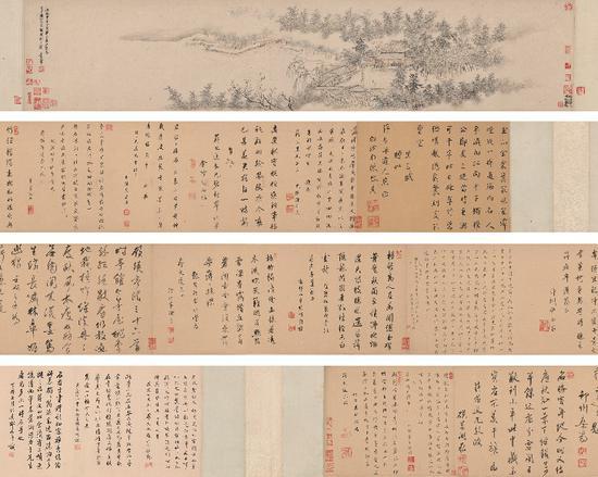 ▲ 01清·王翚《碧梧村庄图卷》