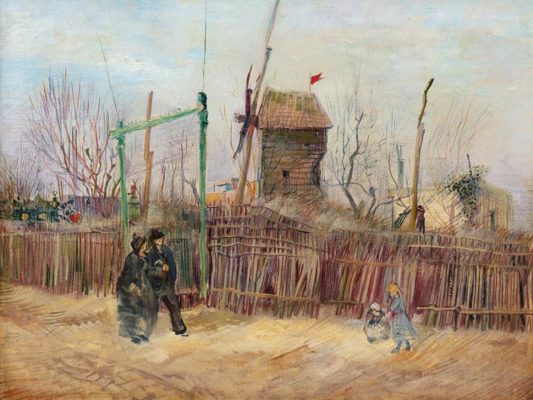 《蒙马特街景(两兄弟小路尽头与胡椒磨坊)》1887年作,46.1 x 61.3公分估价:5,000,000至 8,000,000 欧元