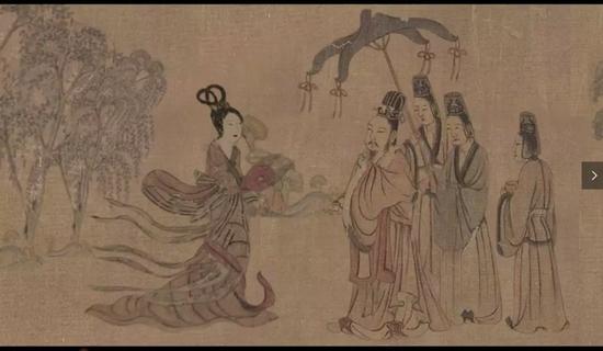 她从中国敦煌壁画《舞乐》中走来