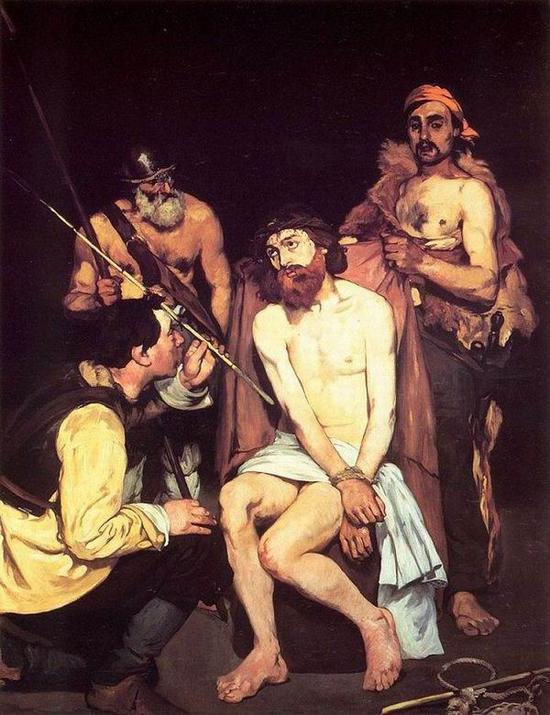 《被士兵们嘲笑的耶稣》,1865