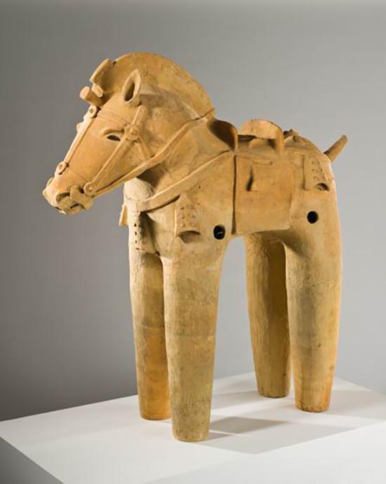 """佚名,《""""埴轮""""马》,古贲时代,6世纪,陶器,洛杉矶郡艺术博物馆藏"""