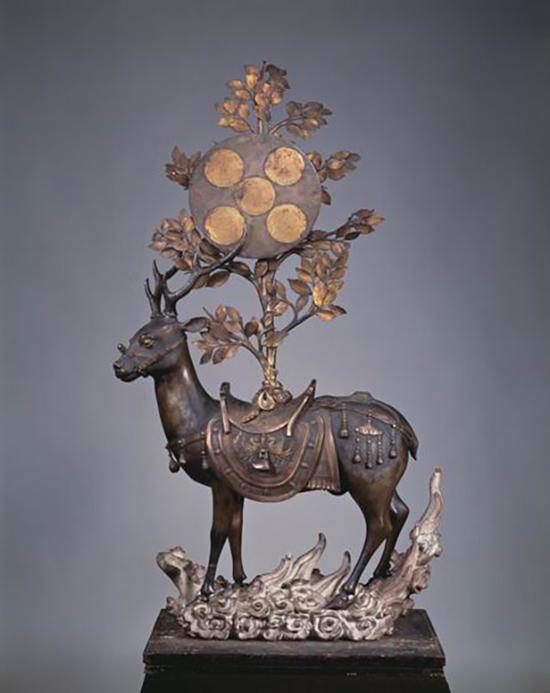 佚名,《春日大社-鹿》,14世纪(日本南北朝时代),京都细见美术馆藏