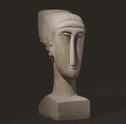 莫迪里阿尼创作于1911-1912年的石雕《头像》,2014年拍出7070万美元(约合4.3亿元人民币)。这件头像拥有细长的鼻子、空洞的眼睛和一头卷发,仿佛一尊古代的雕塑
