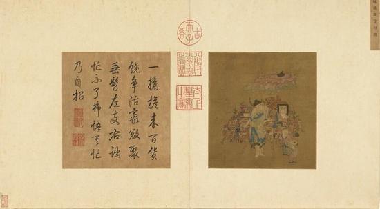 唐宋名迹冊传 南宋 苏汉臣 《货郎图》台北故宫博物院藏