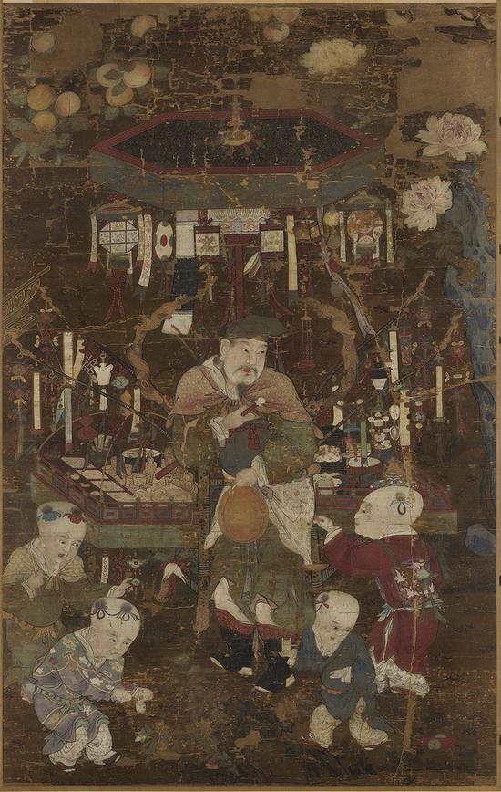 《货郎图》轴 台北故宫博物院藏