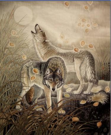吕维超先生是当代著名的动物画家,他更像是动物们的贴心知音.