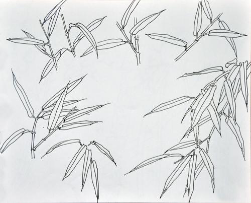 古风竹子手绘铅笔