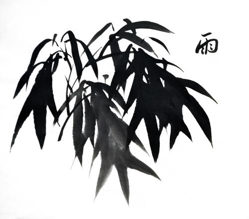 竹子的画法_张雄艺术网