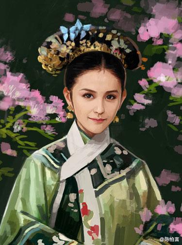 甄嬛传人物油画欣赏