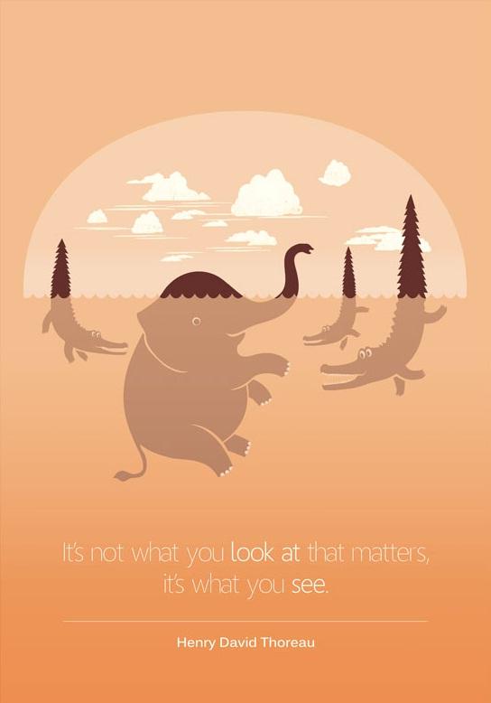 重要的不是事情应该是怎样的,而是你看见的是怎样的。