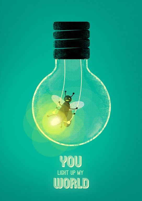 你点亮了我的世界。