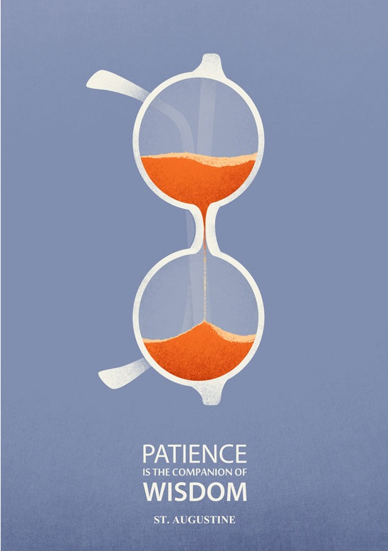 耐心是智慧的伴侣。