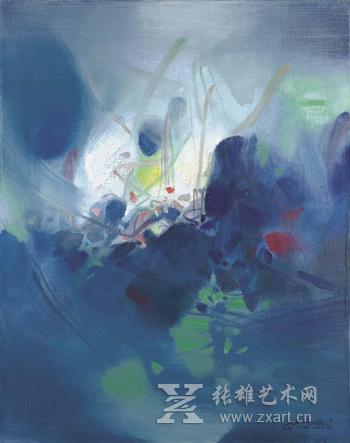 朱德群作品-着名华人艺术家朱德群巴黎逝世 享年94岁