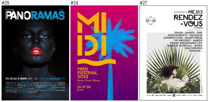 法国音乐节的创意海报欣赏