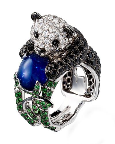 高级珠宝品牌打造奢华的移动动物世界