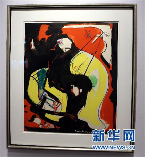 这是香港巴塞尔艺术展上纽约汉马画廊展出的法国著名画家亨利图片