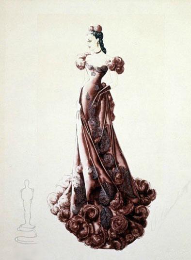 《乱世佳人》的服装设计手绘图