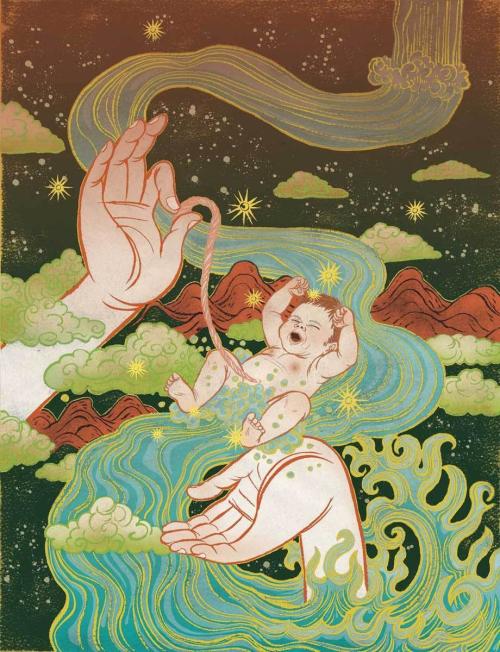 佛的-清水裕子是一位日本女插画师,目前定居在纽约,她曾在2009年被日本