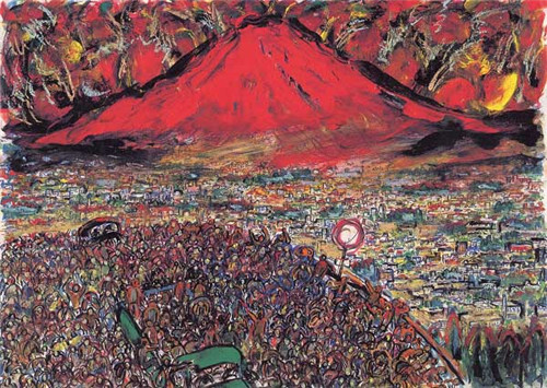 日本著名导演黑泽明:手绘电影场景显非同寻常绘画才华