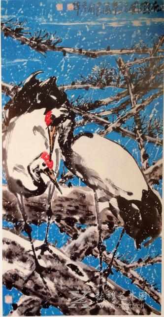 当代花鸟画家朱法鹏作品市场一路攀升