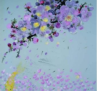 《花自飘零水自流-2》 200×200cm 2013