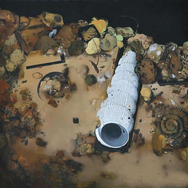 考古学5 160x160cm 布面油画 2012