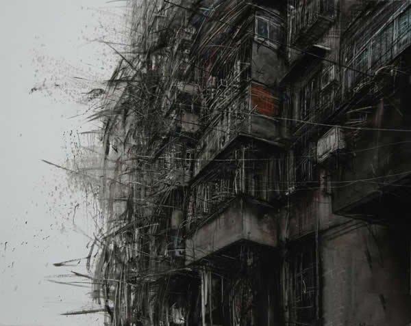 碎城系列8 150x120cm 布面油画 2013