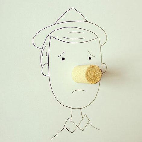 厄瓜多尔艺术家的简笔画 构思精巧 乐趣十足