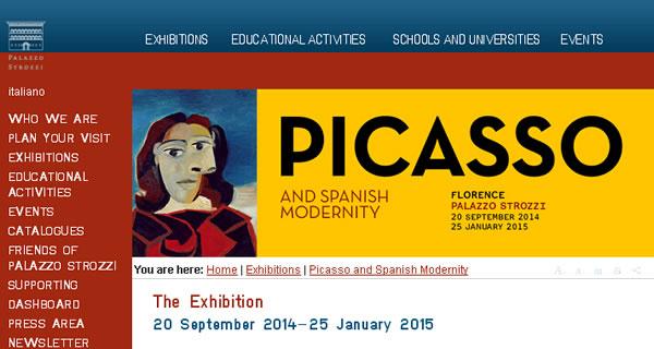 """意大利斯特罗齐宫:""""毕加索与西班牙现代派""""画作展"""
