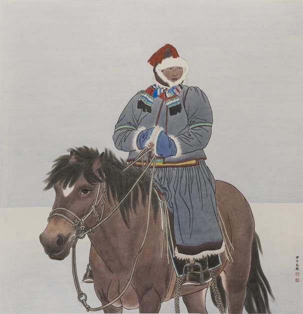 《布里亚特的冬季》 孙志钧 180×200cm