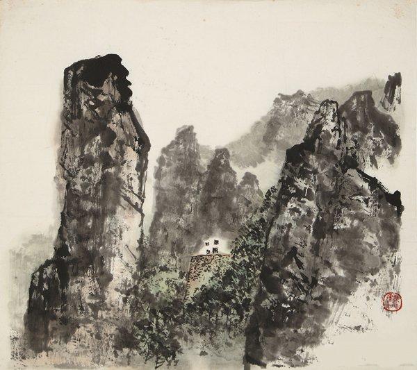 九华山中 34cm×40cm  1979年